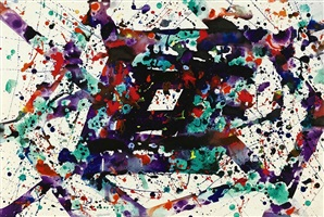 untitled (sf78 930) by sam francis