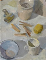 white still life by catherine maize