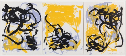 little weeds i (triptych) by joan mitchell