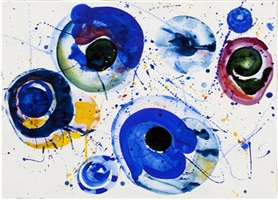 untitled (sf62-102) by sam francis