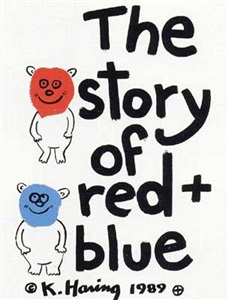story of red and blue by keith haring