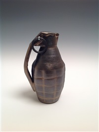 hand grenade: bronze by christa assad