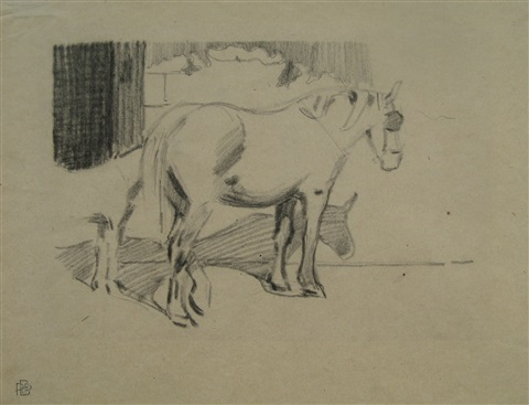 study for the cabyard series by robert bevan