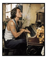 johnny depp, madame simon residence, france, 2003 by mark seliger