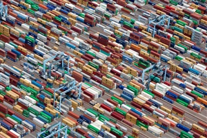 shipping containers, portsmouth, virginia, usa, 2011 by alex s. maclean
