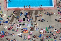 poolside tanning, cambridge, massachusetts, usa, 2012 by alex s. maclean