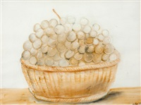 cesta de uvas by fernando botero