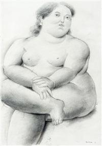 mulher sentada by fernando botero