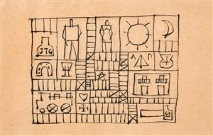 constructivo con sol y luna by joaquín torres garcía