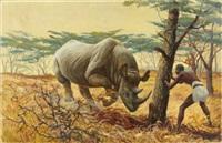 charging rhinoceros by courtney allen