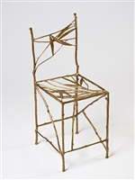 chaise feuilles bamboo (droite) by claude lalanne