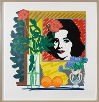 liz taylor by tom wesselmann