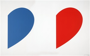 blue curve / red curve by ellsworth kelly