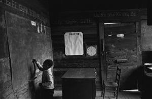 time of change (boy at blackboard) by bruce davidson