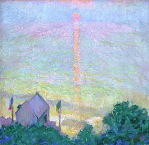 soleil couchant à veules-les-roses by theodore earl butler