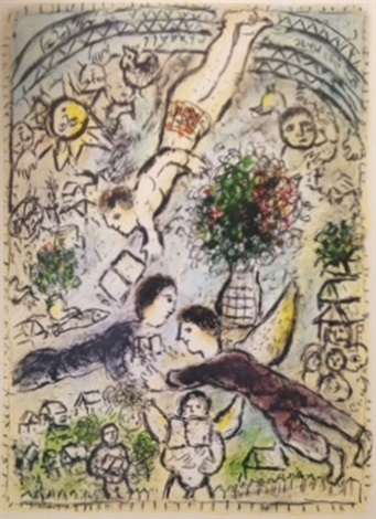 the sky by marc chagall