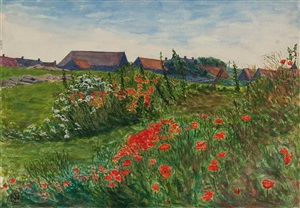 poppy field in bloom by george copeland ault