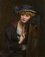 a fashionable young lady by irving ramsey wiles