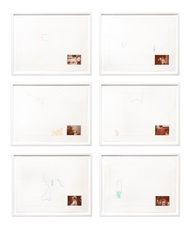 raw prints (yellow, purple, orange, red, blue, green) by john baldessari