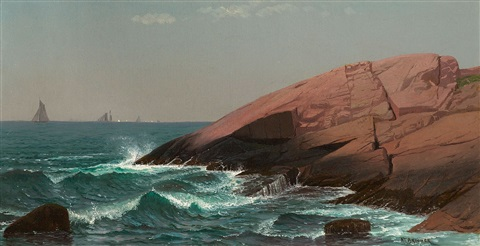 coastal scene by alfred thompson bricher