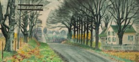 house by a country-road by charles ephraim burchfield