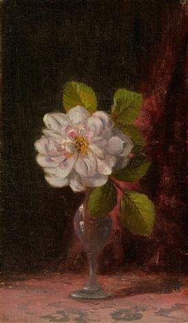 flower in a vase by aaron draper shattuck