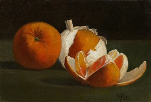 still life with oranges by john frederick peto