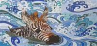 zebra (nadando) by fernanda brunet