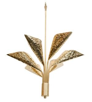 brass pendant chandelier by angelo lelli
