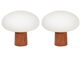 pair of laurel table lamps by bill curry