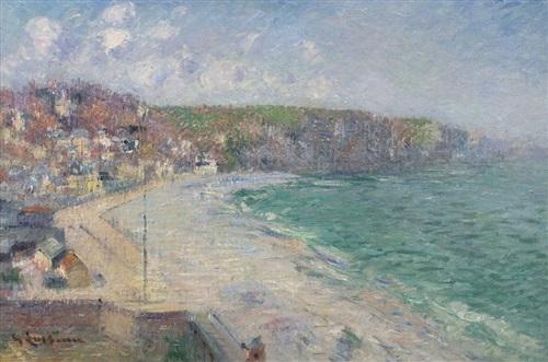 plage et falaises de fécamp by gustave loiseau