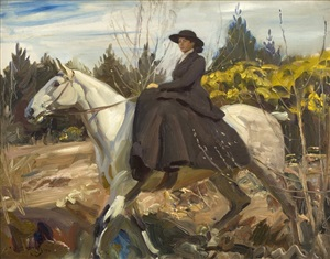 the morning ride by sir alfred munnings