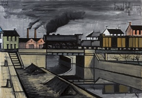 paysage à la locomotive by bernard buffet