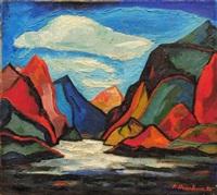 montagnes les rocheuses by fritz brandtner