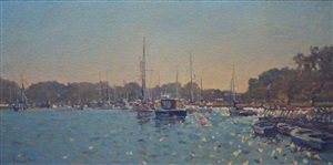 harbour scene by richard price