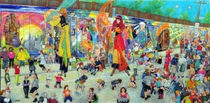 l'inauguration de la murale a pointe-st-charles by miyuki tanobe