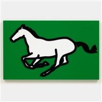 galloping horse i by julian opie