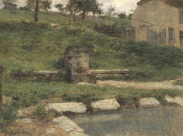 la fontaine / the fountain by léon augustin l'hermitte