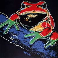 pine barrens tree frog by andy warhol