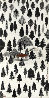 tracing the footsteps of wang wei in snow by lo ch'ing