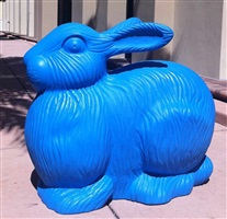 blue bunny by cracking art group