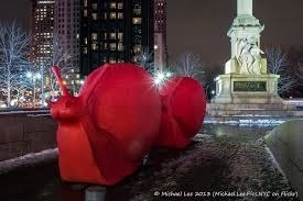 giant red snail by cracking art group