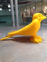 giant yellow swallow by cracking art group