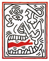 untitled / picasso tongue by keith haring