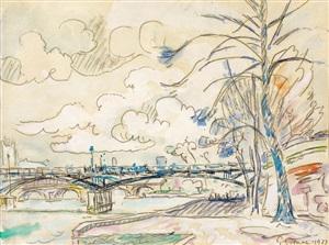 paris, les quais by paul signac