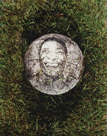 untitled (pele) by vik muniz