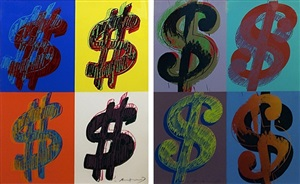 $ (quadrant) fs ii.283-284 by andy warhol