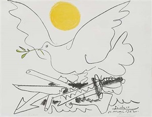 colombe au soleil (dove with sun) by pablo picasso