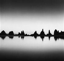 hashikui rocks, kushimoto, honshu, japan, 2002 by michael kenna