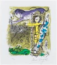 le christ a l'horloge (christ as a clock) by marc chagall